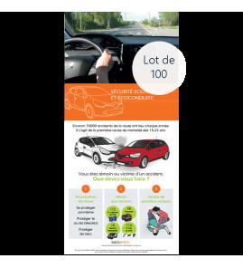 Lot de 100 dépliants - Sécurité routière et écoconduite