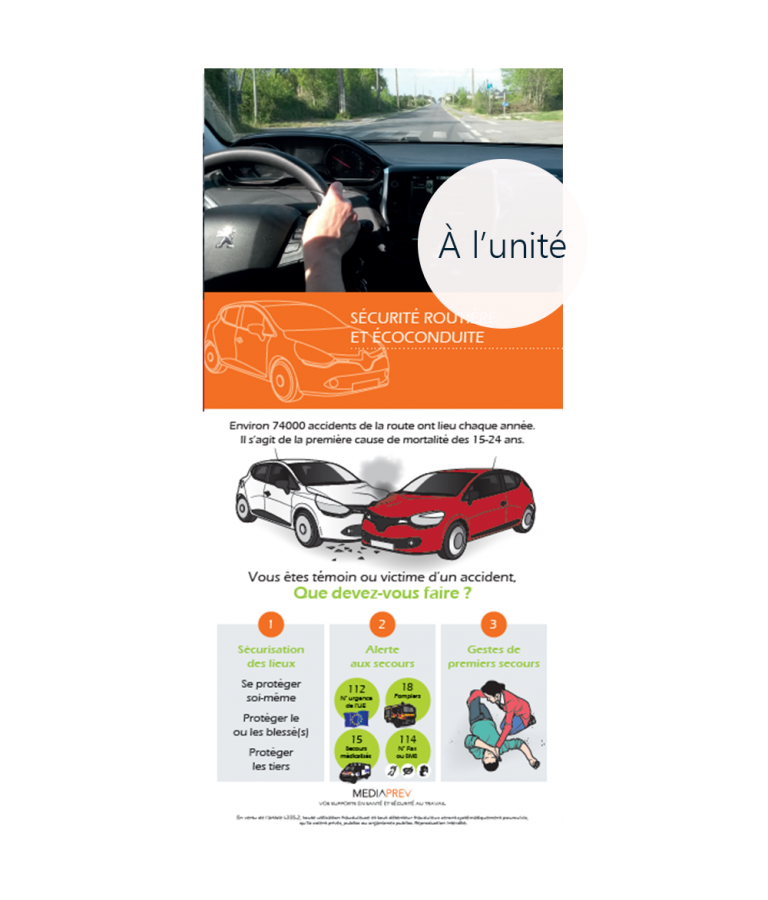 Dépliant sécurité routière et écoconduite à l'unité