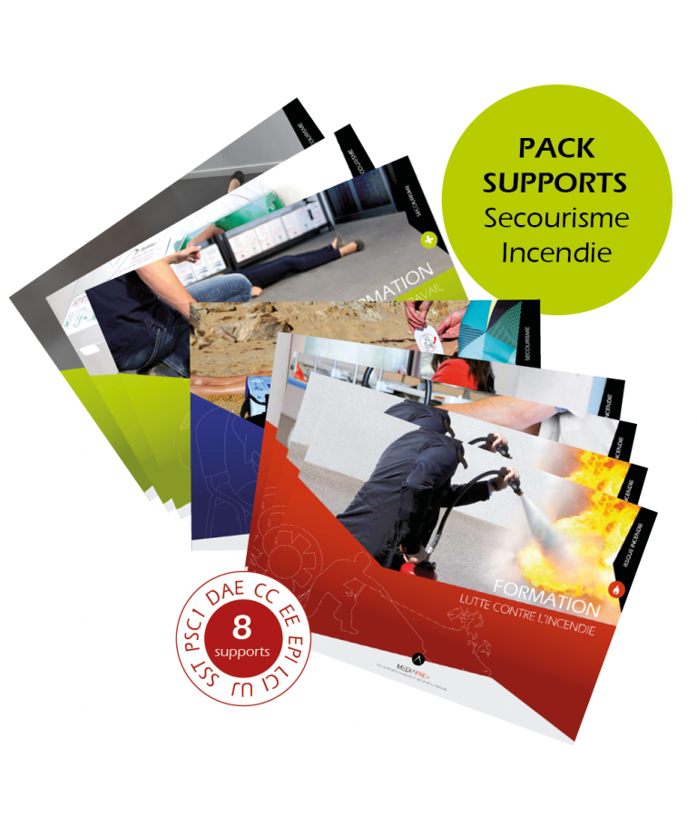 Pack supports Secourisme - Incendie