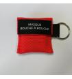 Porte clés masque de bouche à bouche Rouge