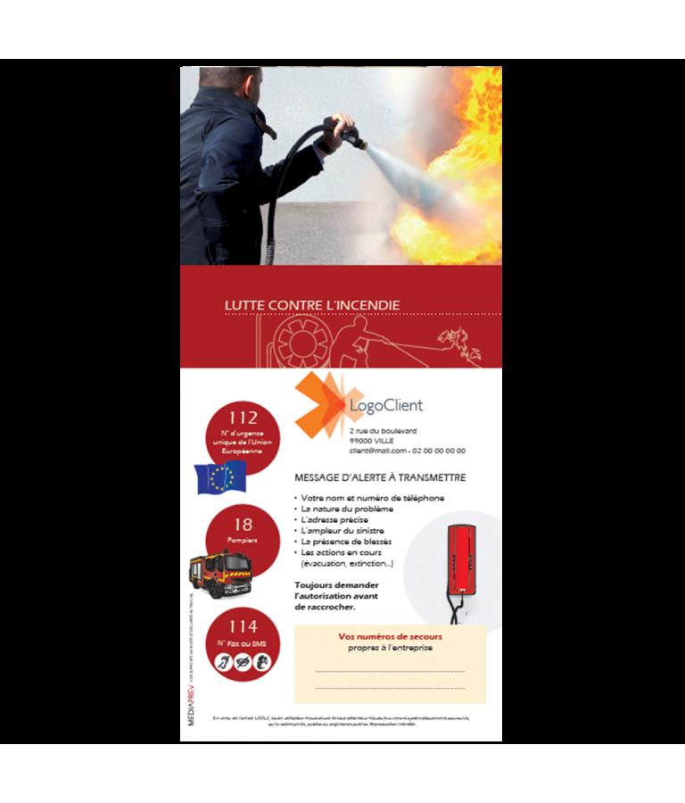Lot de 100 dépliants Lutte contre l'incendie Personnalisés