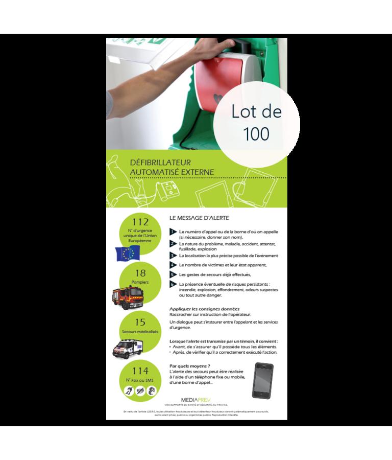 Dépliant DAE - Défibrillateur Automatisé Externe - Lot de 100