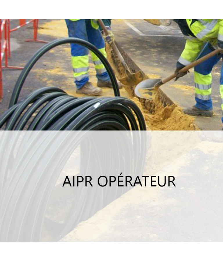QCM d'entrainement à l'examen AIPR - Niveau  Opérateur