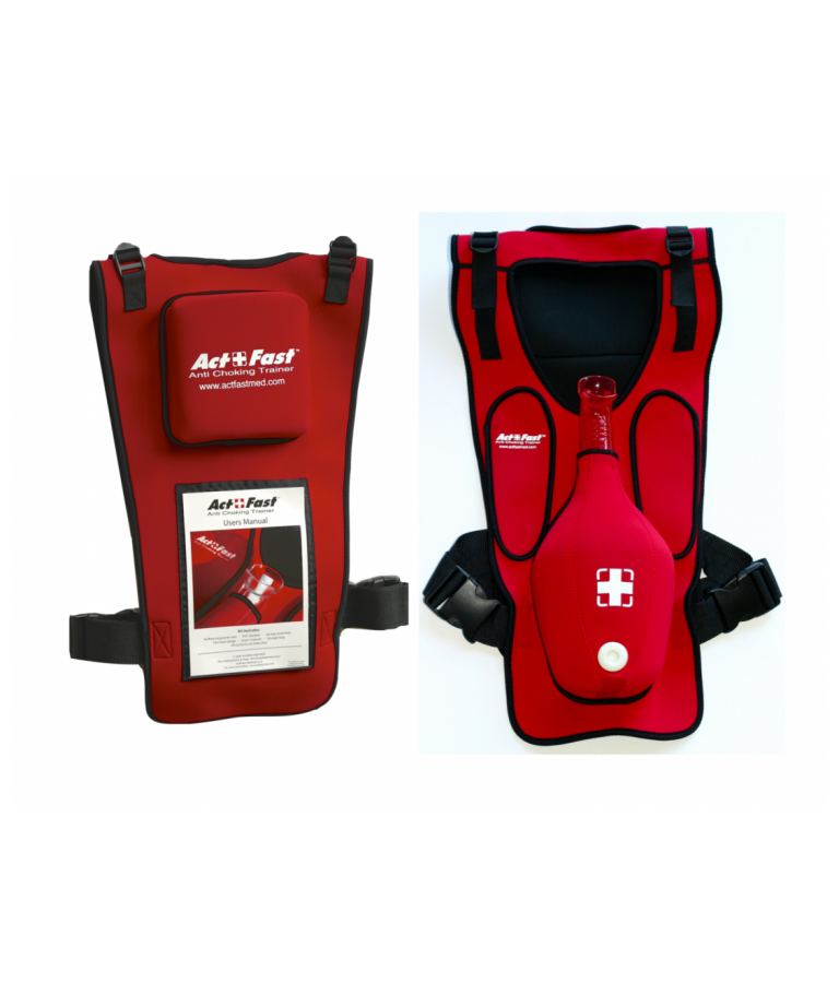 Gilet d'interventio Etouffement Act+Fast rouge